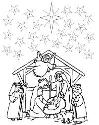 Free Nativity Scene Coloring Pages At Getdrawingscom Free For
