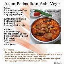 Masak hingga ikan matang sekitar 10 menit dan kuah mulai mengental. Asam Pedas Ikan Asin Vege Resep Vegetarian Love Peace Veggie