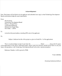 Letter To Business Template Business Plan Letter Template 5business Acknowledgement Letter