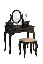 small black bedroom vanity