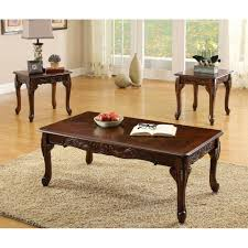 furniture of america cm4914 3pk cheshire coffee table set the