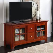 wood tv stand. amazon.com: walker edison 53\ wood tv stand