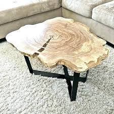 diy log coffee table birch log coffee table log coffee table impressive cut design ideas within