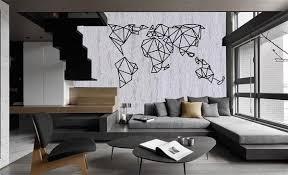 x large metal world map wall art