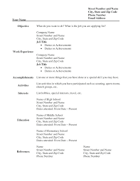 Resume Templates Fill In The Blanks Free Printable Fill Blank Resume Templates To Print Form Wonderful