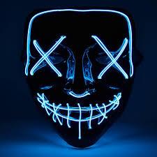 Light Up Mask Halloween Purge Mask Light Up Neon Multiple Colours