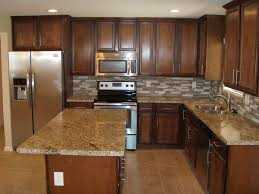 Limestone Flooring Kitchen Contemporary Kitchen With L Shaped Limestone Tile Floors In Mesa