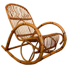 antique wicker rocker for sale. mid century italian rattan rocking chair by franco albini | from a unique collection of antique wicker rocker for sale
