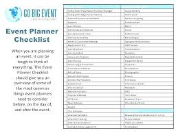 Party Planning Template Free Checklist Birthday Planner Template Event Planning Packages Template