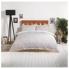 sainsbury s home monochrome fl printed bed linen 300tc