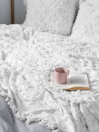 white bed sheets texture. Unique Bed BED COVER SETS SOMERS WHITE 240 X 260CM MODERN CHENILLE  CONTEMPORARY BEDDING TEXTURED BOHO VINTAGE BEDDING LINEN HOUSE To White Bed Sheets Texture