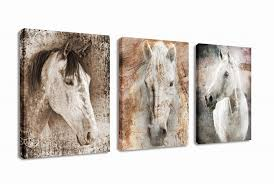 canvas wall art horse animal painting prints on canvas framed ready to hang 3 panels on panel wall art review with wall art horse amazon