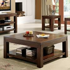 ... Coffee Table, Surprising Dark Brown Square Rustic Wood Square Coffee  Table Sets Stained Design: