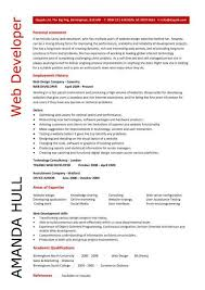 Web Developer Resume Resume Personal Statement Sample Web Developer