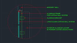 wall detail plus curtain wall detail autocad 2016 version