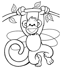 Free Printable Monkey Coloring Pages Color Bros