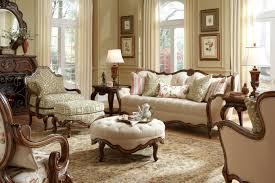 traditional living room furniture ideas. Modren Furniture Traditional Formal Living Room Furniture Sets Design By White Fabric  Upholstered In The Varnished Teak Carved Of Sofa Frame And Round Otto With Ideas L
