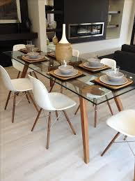 interior sticotti glass dining table and eames chairs in walnut elegant kitchen room 6