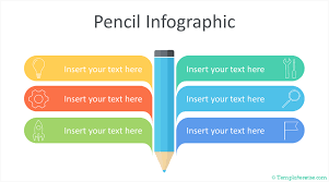 Infographic For Powerpoint Pencil Infographic Powerpoint Template Templateswise Com