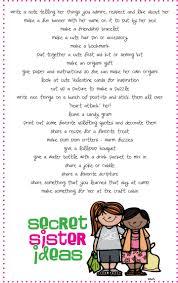 Secret Sister Ideas | Inkablinka