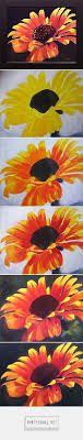 how to paint a flower with acrylics step by step created on