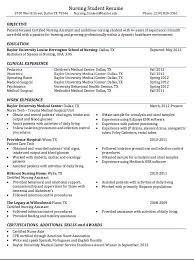 Resume Templates For Nursing Students Unique Certified Nursing Student Resume Sample Httpresumesdesign