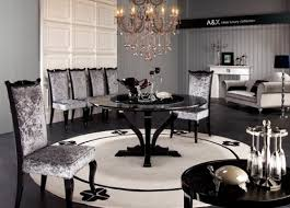 black lacquer dining room furniture. modern high gloss dining table set furniture in black features lacquer room u