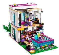 lego friends 41135 la maison de la pop star livi lego city sets