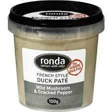 Ronda Pate Duck Mushroom Crkd Pepper 150g Woolworths   Stuffed ...
