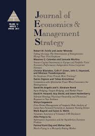 template for submissions to journal template for submissions to journal of economics amp management