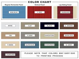 Mueller Metal Buildings Color Chart 60x80 Metal Building