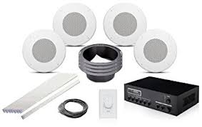 office speaker system. jbl css8008 8 inch 70 volt in ceiling speaker bundle with pure resonance audio ma30bt bluetooth office system o