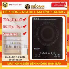 Mã ELAPR10K giảm 10k đơn 20k] Bếp hồng ngoại cảm ứng [KHÔNG KÉN NỒI] Bếp từ  ăn lẩu Sanaky IHC20A chính hãng 580,000đ