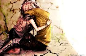 sad anime couples wallpapers top free