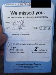 Anyone Gotten One Of These Attempted Delivery Slips From Amazon