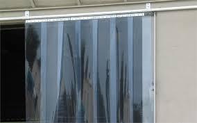 slide open strip curtain installed