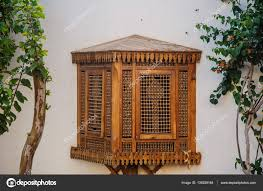 Fensterläden Holz Sehr Alte Arabische Vintage Stil Stockfoto