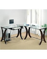 coaster contemporary computer workstation office desk table. Coaster L-Shape Home Office Computer Desk, Cappuccino Finish Base, Glass Top Contemporary Workstation Desk Table M
