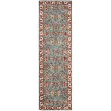 safavieh heritage 5 x 8 hand tufted wool pile rug in blue and ivory
