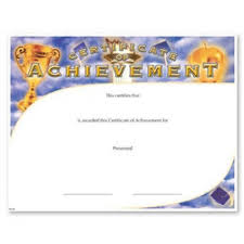 blank certificates achievement fill in the blank certificates