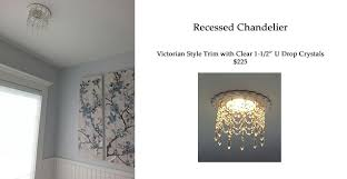 recessed light trim embellished with 3 strands of clear crystals