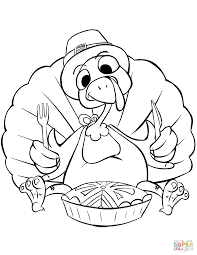 Small Picture Thanksgiving Dinner coloring page Free Printable Coloring Pages
