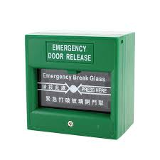 image is loading 5x green security alarm fire break glass on