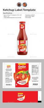 Food Product Label Design Template Ketchup Label Design Template Vector Eps Ai Illustrator