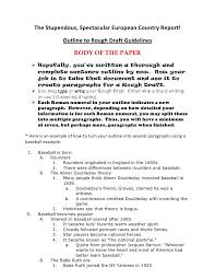 outline format for argumentative essay outline to rough draft