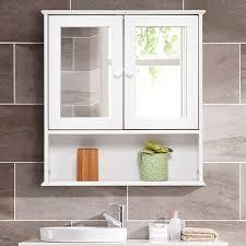 bathroom wall cabinet double mirror