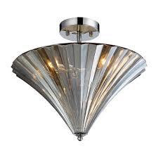 elk lighting 3 light flush mount