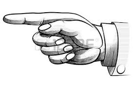 Resultado de imagen de imagen dedo señalando hacia la izquierda