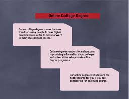Online Degrees And Scholarships Com Provides Information On