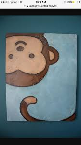 grade spring 2017 Monkey Children's Wall Art Original Canvas by WubsyStore